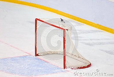 Porte d 39 hockey sans gardien de but photo stock image 63210824 - Gardien d immeuble sans diplome ...