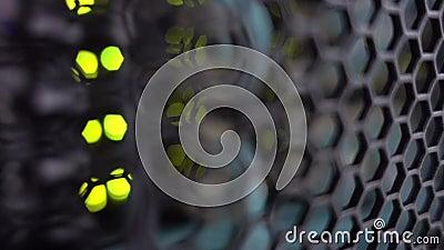 Porte de grille de support moderne de serveur Mat?riel de serveur, mise en r?seau clips vidéos