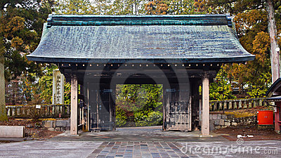 Porte de temple de Rinnoji