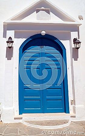 Porte grecque traditionnelle sur l 39 le de mykonos gr ce for Porte grecque