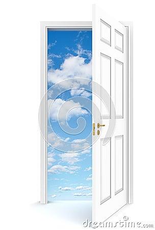 Porte ouverte au ciel images stock image 24299584 for Porte ouverte