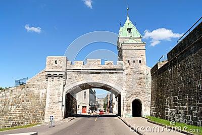 Porte Saint Louis in Quebec City, Canada Editorial Stock Photo
