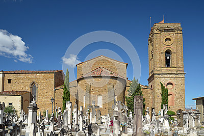 Porte Sante cemetery and San Miniato basilica in Florence, Italy