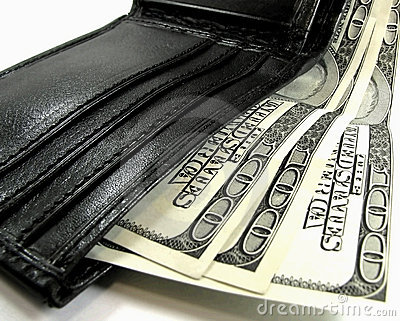Portefeuille met dollars
