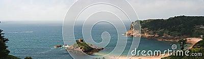 Portelet bay panorama