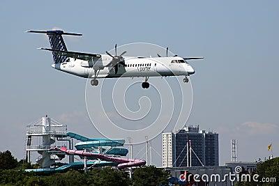 Porter Airline jet landing Editorial Image