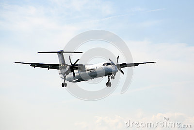 Porter Airline jet landing Editorial Stock Image