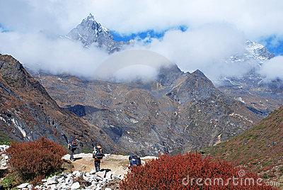 Porters in Himalayas