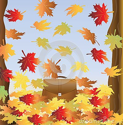 Portfolio among falling foliage