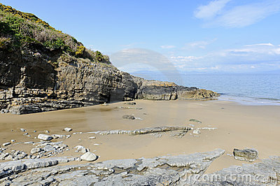 Porth Bach Beach Stock Photo