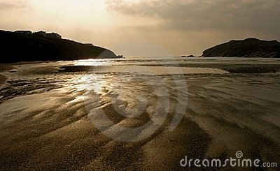 Porth Beach, Cornwall, England
