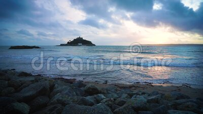 Porthmeor Beach St Ives Cornwall England archivi video