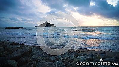 Porthmeor Beach St Ives Cornwall England stock video