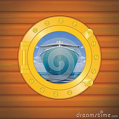 Free Porthole Cruise Liner Royalty Free Stock Image - 7075226