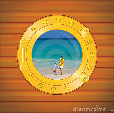 Porthole mon and boy
