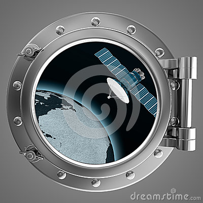 Free Porthole Overlooking The Spacecraft Royalty Free Stock Photo - 28508485