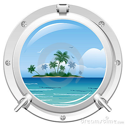 Free Porthole With Sea View Royalty Free Stock Photography - 18976317