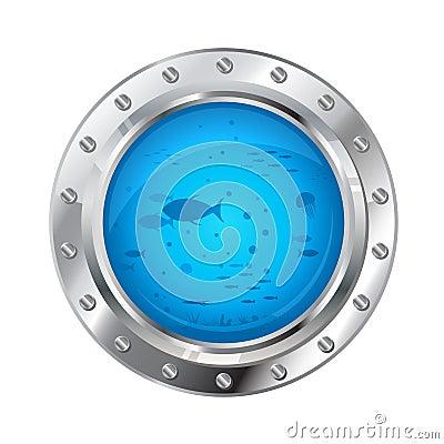 Free Porthole With Underwater Life Royalty Free Stock Photos - 46754218