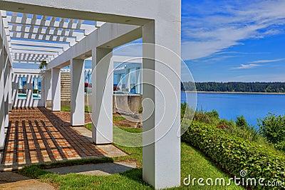 Portico moderno fotografia stock libera da diritti for Design moderno di portico in vetro