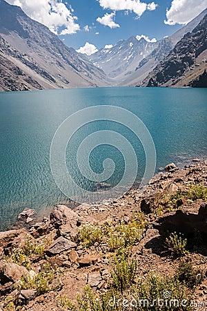 Portillo Inca Laguna and Mountains Chile
