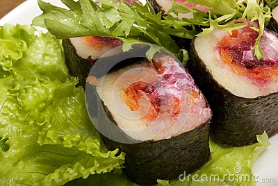 Portion of rolls