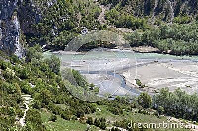 Portitsa gorge in Greece