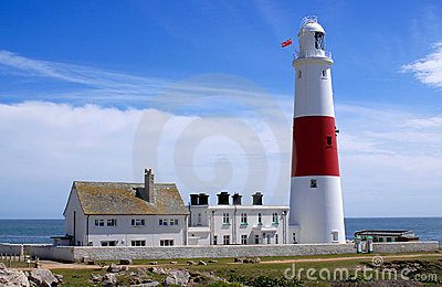 Portland Bill Lighthouse in Dorset England