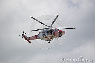 Portland Coastguard Helicopter Editorial Stock Image