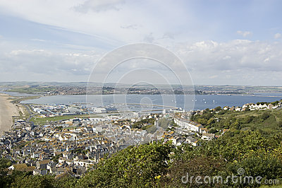 Portland Harbour view from above
