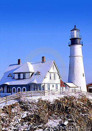 Free Portland Headlight Royalty Free Stock Photos - 48568