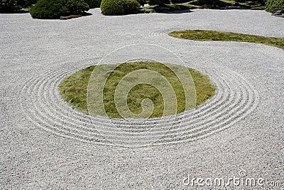 Portland japanese garden zen rock sand