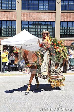 Portland - JUNE 12-2010: Rose festival parade Editorial Image