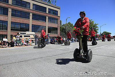 PORTLAND - JUNE 12: ROSE FESTIVAL ANNUAL PARADE. Editorial Stock Photo
