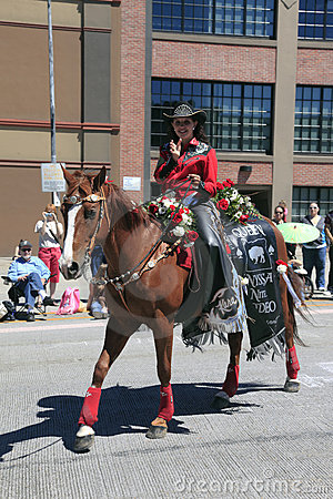 PORTLAND - JUNE 12: ROSE FESTIVAL ANNUAL PARADE. Editorial Image