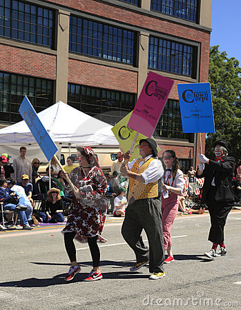 PORTLAND - JUNE 12: ROSE FESTIVAL ANNUAL PARADE. Editorial Photo