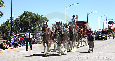 PORTLAND - JUNE 12: ROSE FESTIVAL ANNUAL PARADE. Editorial Stock Image