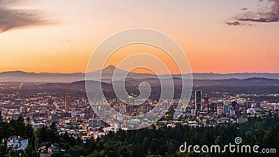Portland Oregon, USA horisont arkivfilmer