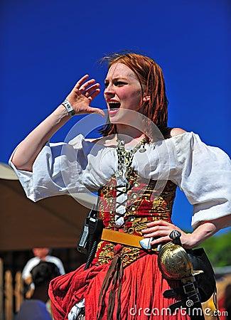 Portland OR Pirates Festival Pub Wench Editorial Stock Photo