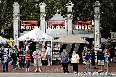 Portland saturday market Editorial Stock Image