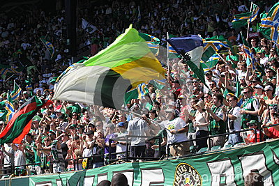 Portland Timbers Army Jeld-Wen Field Editorial Stock Photo