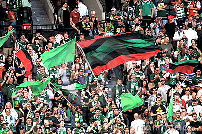 Portland Timbers fans Editorial Stock Image