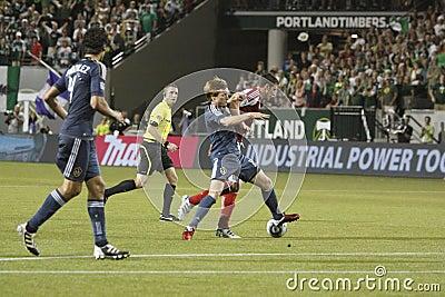 Portland Timbers vs LA Galaxy Editorial Stock Photo