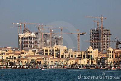 Porto Arabia. The Pearl, Doha Editorial Stock Image