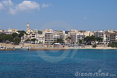 Porto Cristo beach and town center, Majorca islan