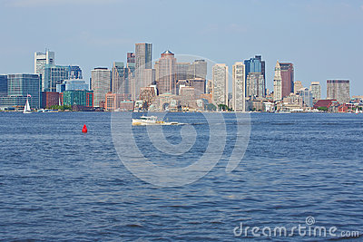 Porto de Boston Foto Editorial