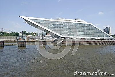 Porto de Hamburgo da zona das docas, Alemanha