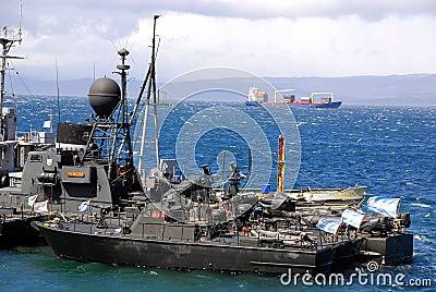 Porto de Ushuaia Foto Editorial