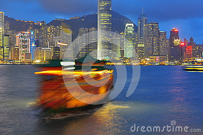 Porto di Hong Kong Immagine Editoriale