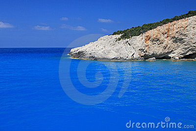 Porto Katsiki beach on the Ionian island of Lefkas