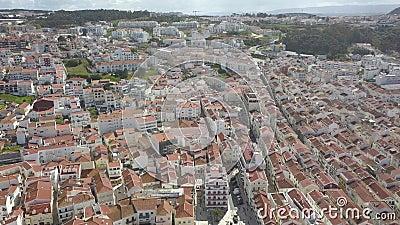 Porto, Portugalia Widok z powietrza na stare miasto i promenadę rzeki Douro Widok miasta i mostów nad rzeką surowy vi zbiory wideo